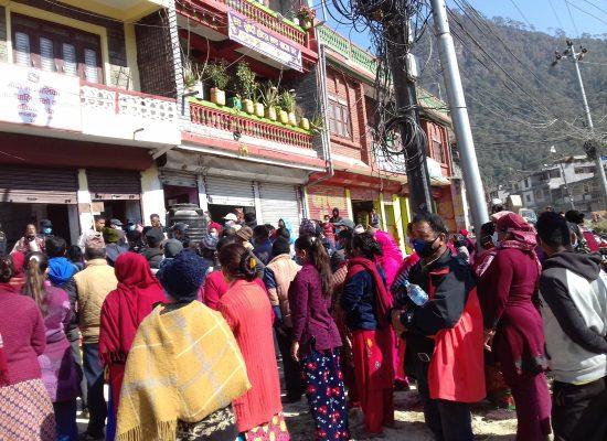 पर्वतको मोदी गाउँपालिकाका जनता आन्दोलित